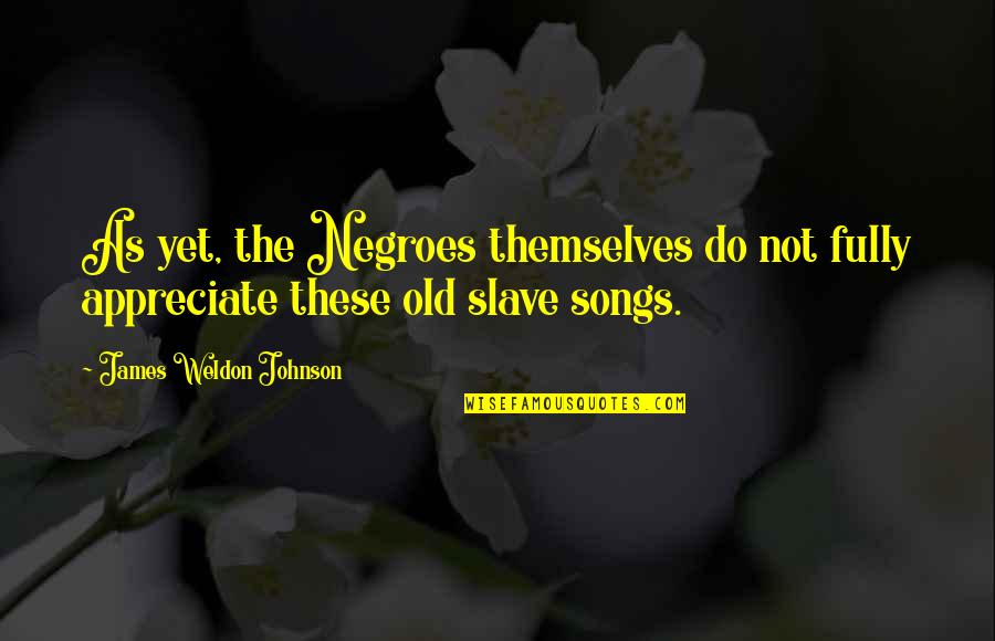 James Weldon Quotes By James Weldon Johnson: As yet, the Negroes themselves do not fully