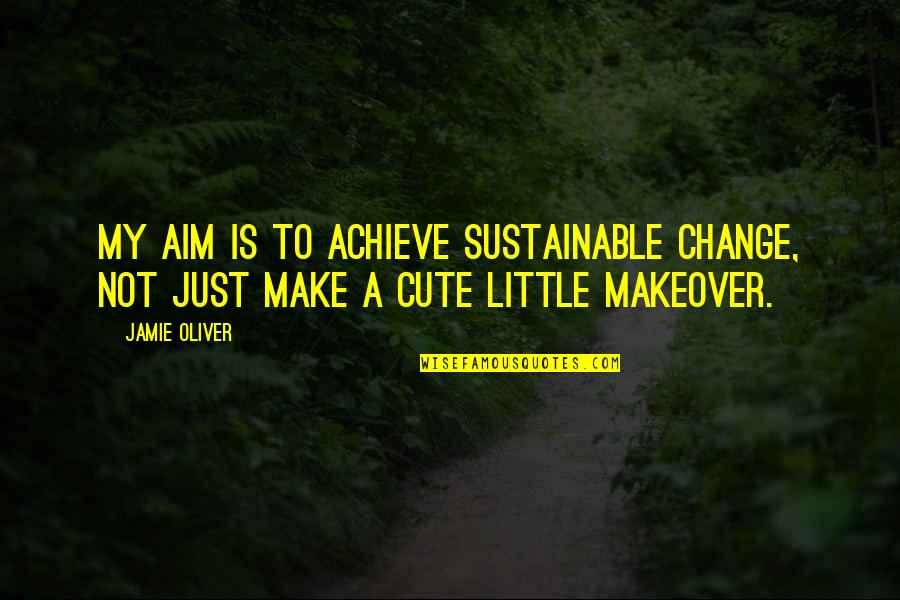 Jamie Oliver Quotes By Jamie Oliver: My aim is to achieve sustainable change, not