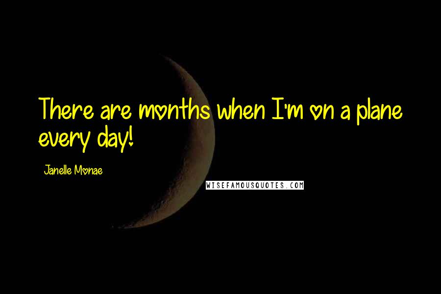 Janelle Monae quotes: There are months when I'm on a plane every day!