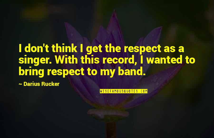 Janet Woodcock Quotes By Darius Rucker: I don't think I get the respect as