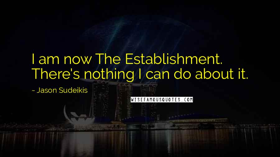Jason Sudeikis quotes: I am now The Establishment. There's nothing I can do about it.