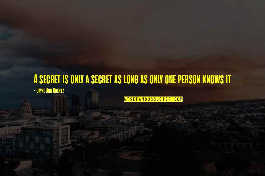 Jayne Ann Krentz Quotes By Jayne Ann Krentz: A secret is only a secret as long