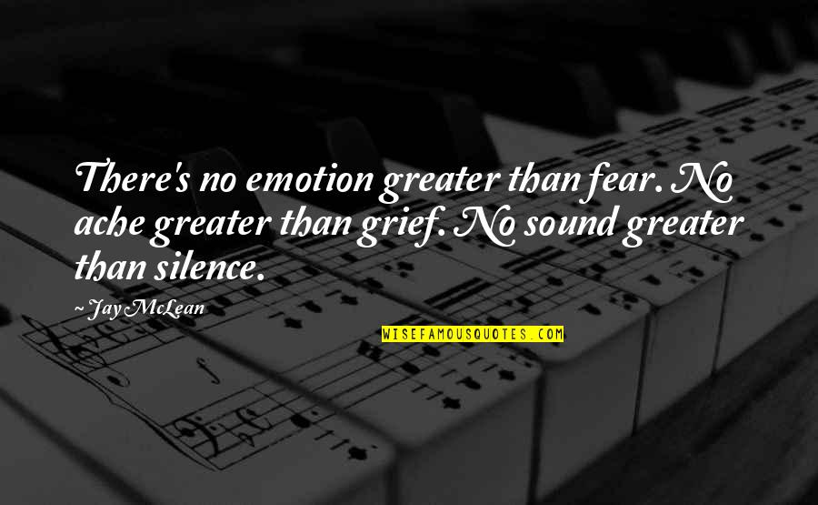 Jay's Quotes By Jay McLean: There's no emotion greater than fear. No ache
