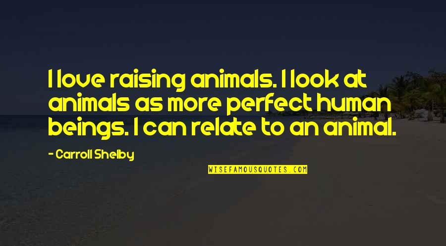 Jd Daydream Quotes By Carroll Shelby: I love raising animals. I look at animals