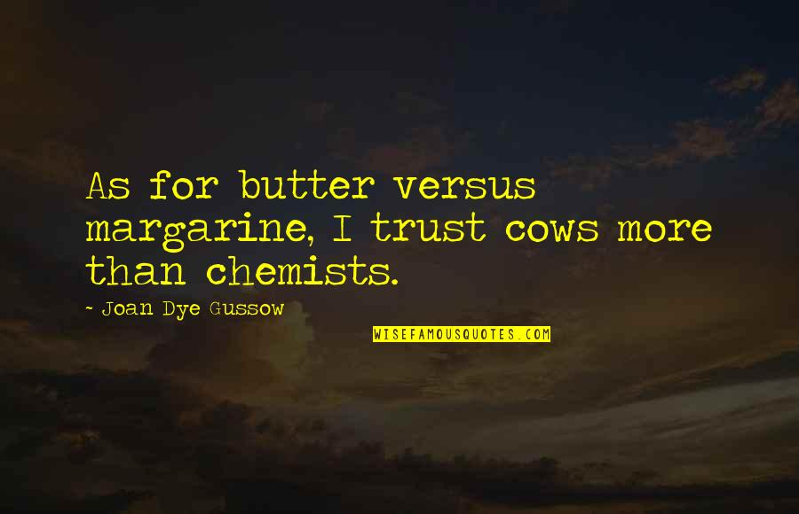 Jean Claude Izzo Quotes By Joan Dye Gussow: As for butter versus margarine, I trust cows