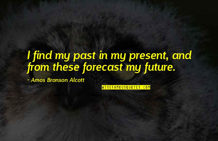 Jeanette's Mother Quotes By Amos Bronson Alcott: I find my past in my present, and
