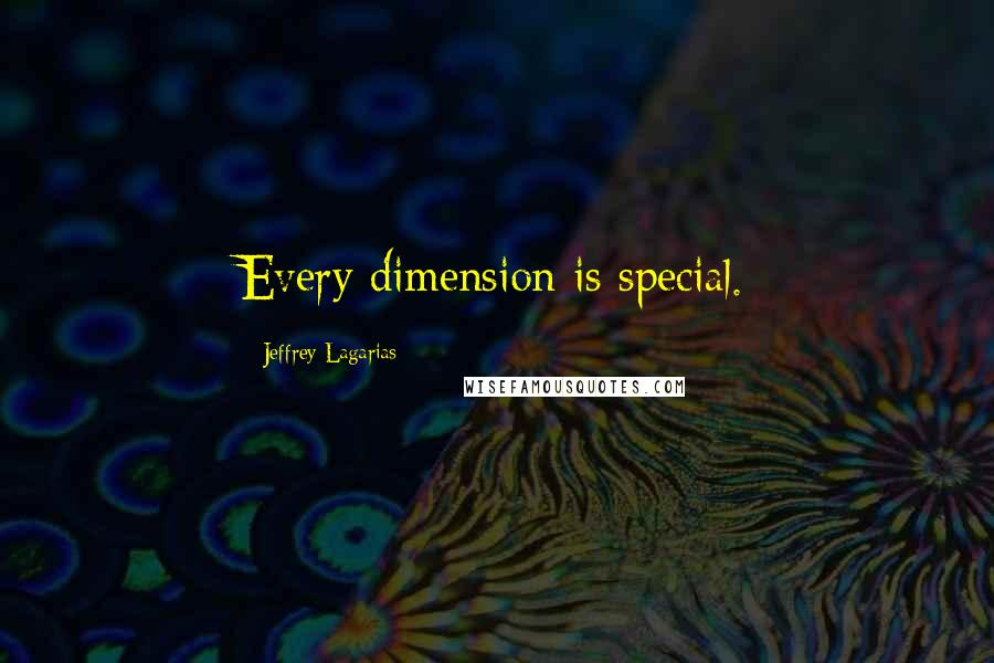 Jeffrey Lagarias quotes: Every dimension is special.