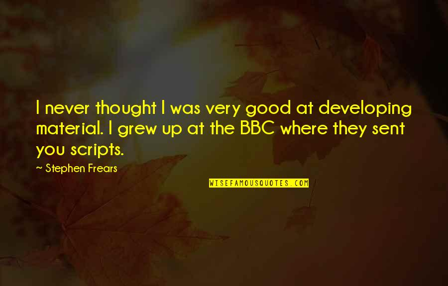 Jerry The King Quotes By Stephen Frears: I never thought I was very good at