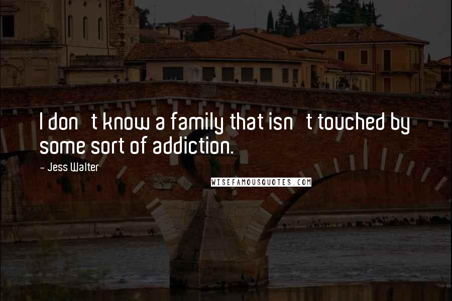 Jess Walter quotes: I don't know a family that isn't touched by some sort of addiction.