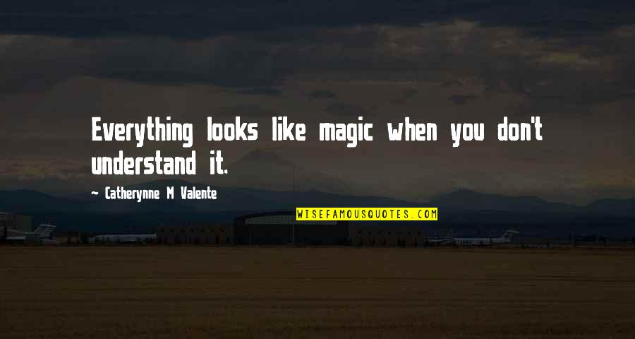 Jessi Lane Adams Quotes By Catherynne M Valente: Everything looks like magic when you don't understand