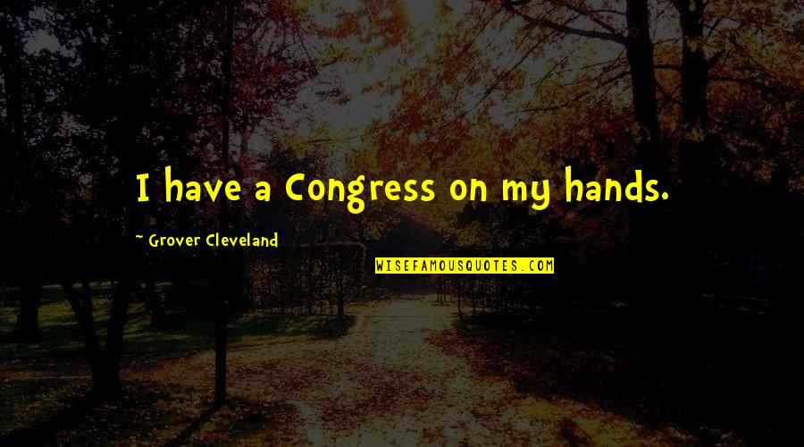 Jesus Huerta De Soto Quotes By Grover Cleveland: I have a Congress on my hands.