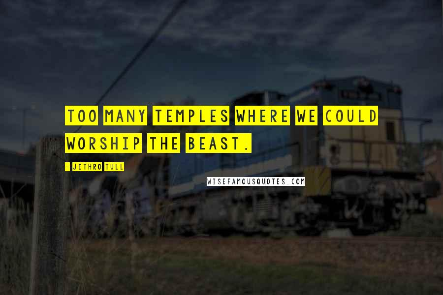 Jethro Tull quotes: Too many temples where we could worship the beast.