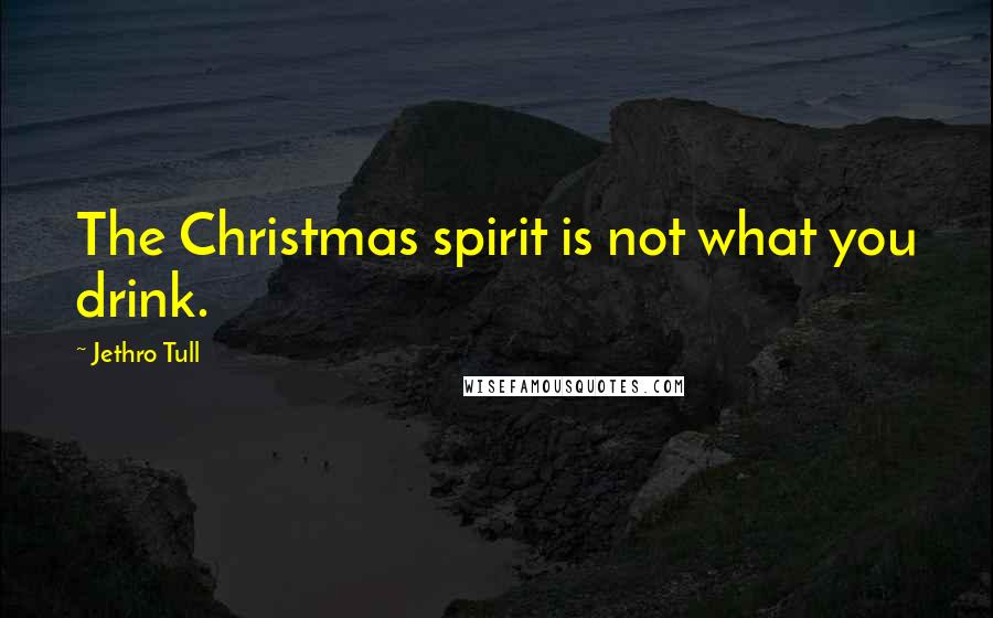 Jethro Tull quotes: The Christmas spirit is not what you drink.