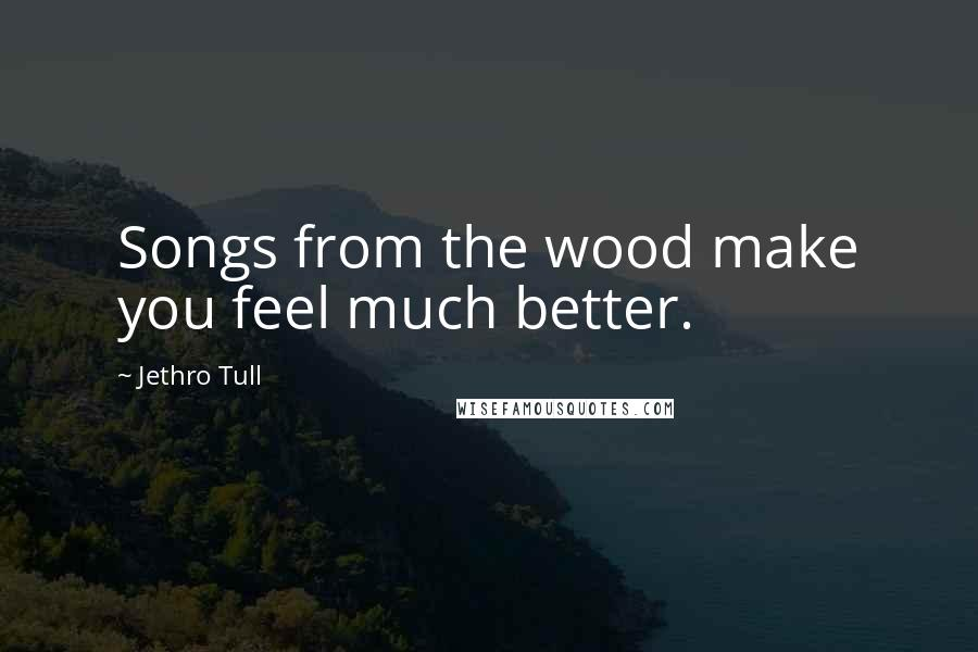 Jethro Tull quotes: Songs from the wood make you feel much better.