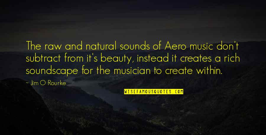 Jim O'neill Quotes By Jim O Rourke: The raw and natural sounds of Aero music