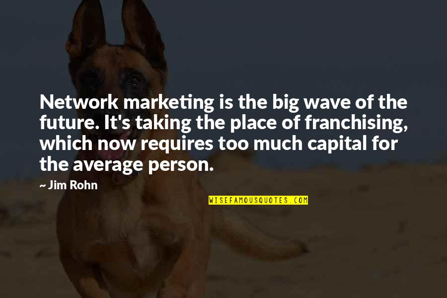 Jim Rohn Mlm Quotes By Jim Rohn: Network marketing is the big wave of the