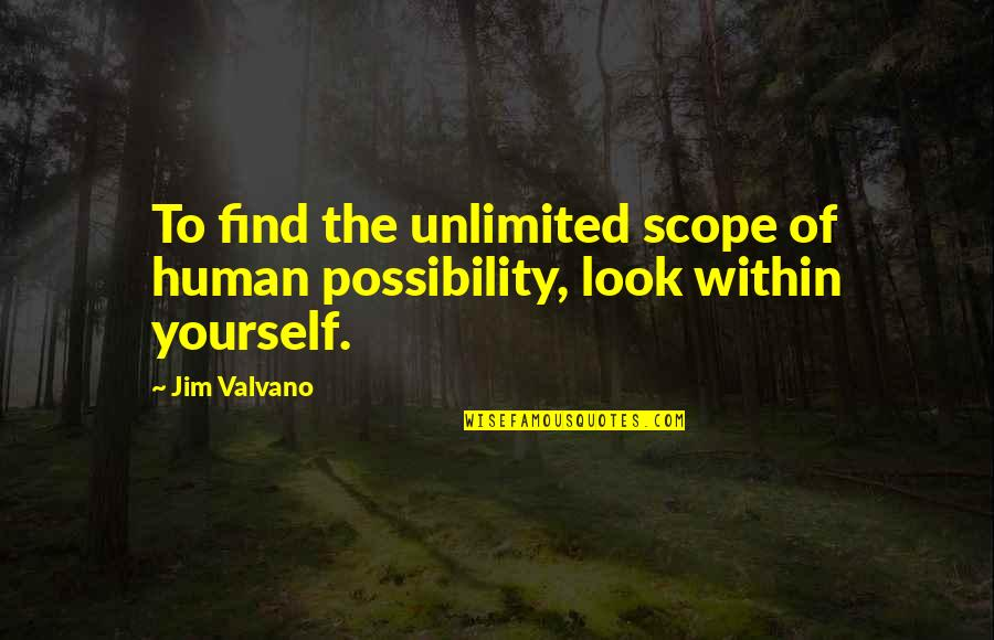 Jim Valvano Quotes By Jim Valvano: To find the unlimited scope of human possibility,