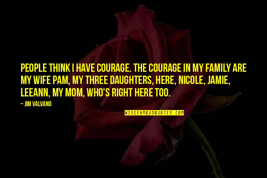 Jim Valvano Quotes By Jim Valvano: People think I have courage. The courage in
