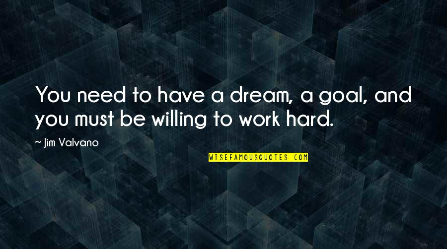Jim Valvano Quotes By Jim Valvano: You need to have a dream, a goal,