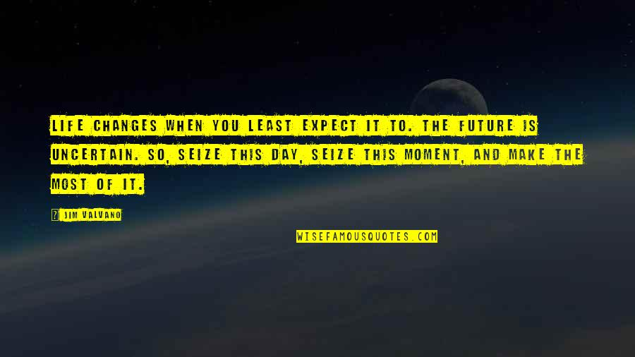 Jim Valvano Quotes By Jim Valvano: Life changes when you least expect it to.