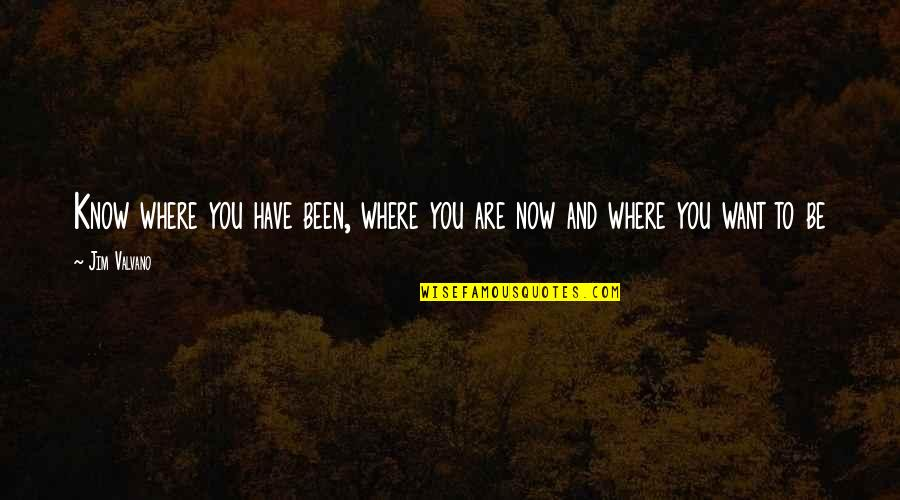 Jim Valvano Quotes By Jim Valvano: Know where you have been, where you are