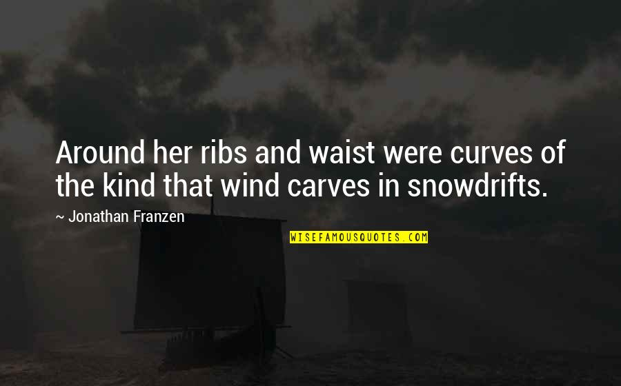 Jimmy Snyder Quotes By Jonathan Franzen: Around her ribs and waist were curves of