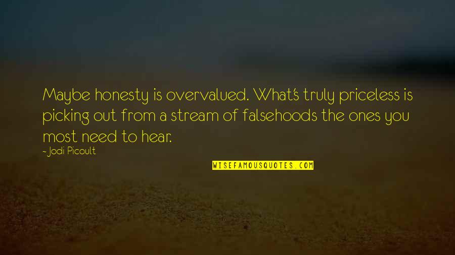 Jing-si Aphorism Quotes By Jodi Picoult: Maybe honesty is overvalued. What's truly priceless is