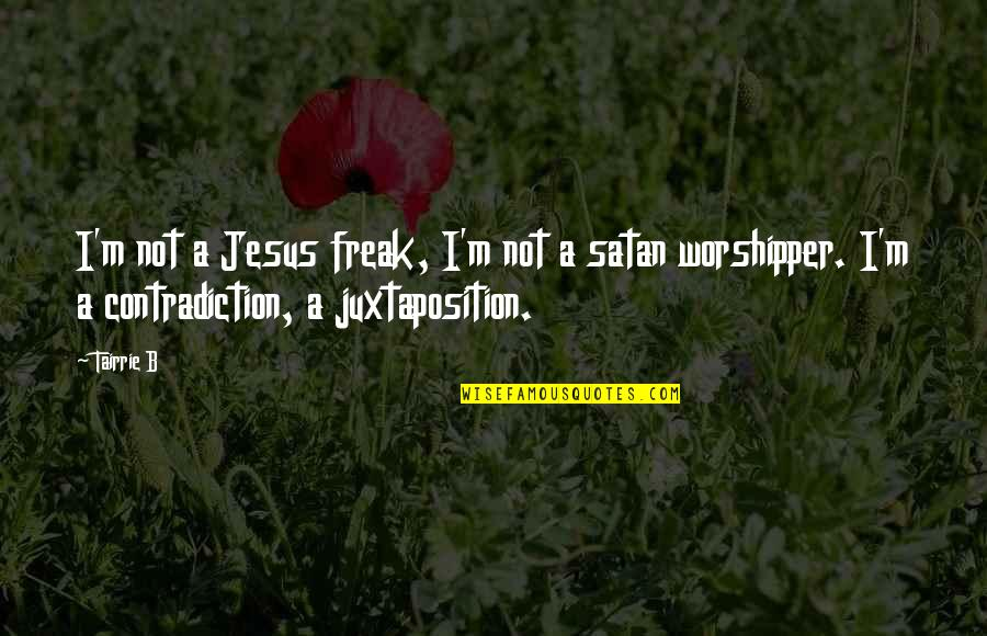 Jo Knowles Quotes By Tairrie B: I'm not a Jesus freak, I'm not a