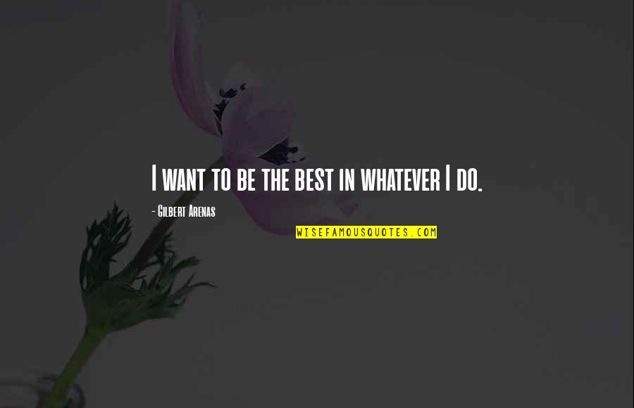 Joaquin Phoenix Her Quotes By Gilbert Arenas: I want to be the best in whatever