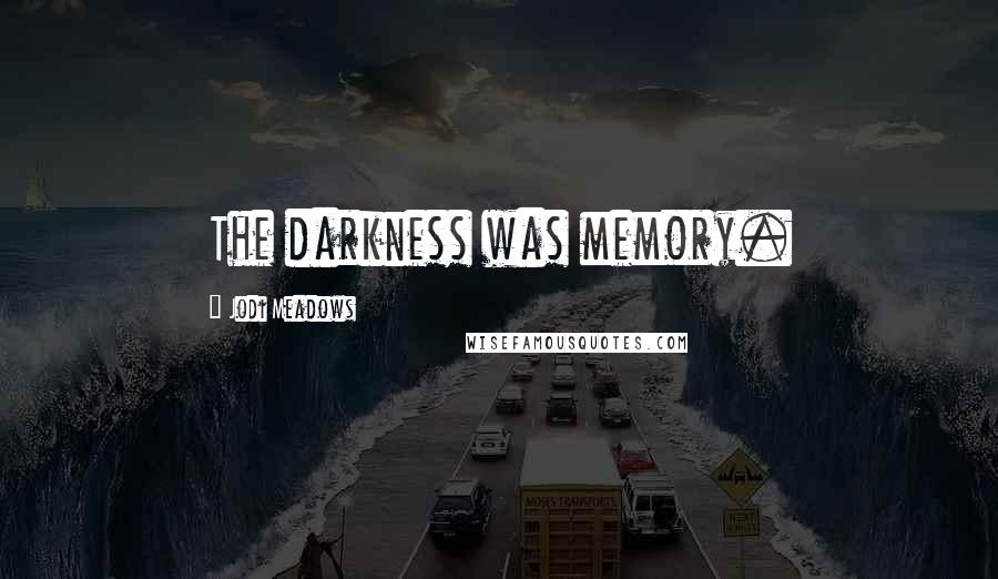 Jodi Meadows quotes: The darkness was memory.