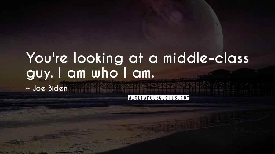 Joe Biden quotes: You're looking at a middle-class guy. I am who I am.