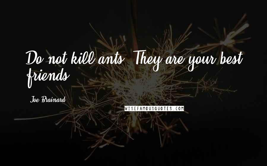Joe Brainard quotes: Do not kill ants. They are your best friends.