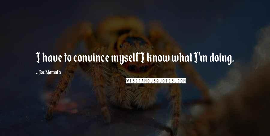 Joe Namath quotes: I have to convince myself I know what I'm doing.