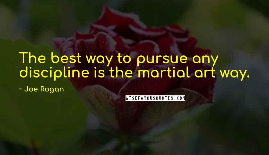 Joe Rogan quotes: The best way to pursue any discipline is the martial art way.