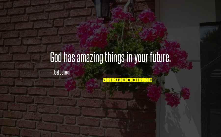 Joel Osteen Quotes By Joel Osteen: God has amazing things in your future.