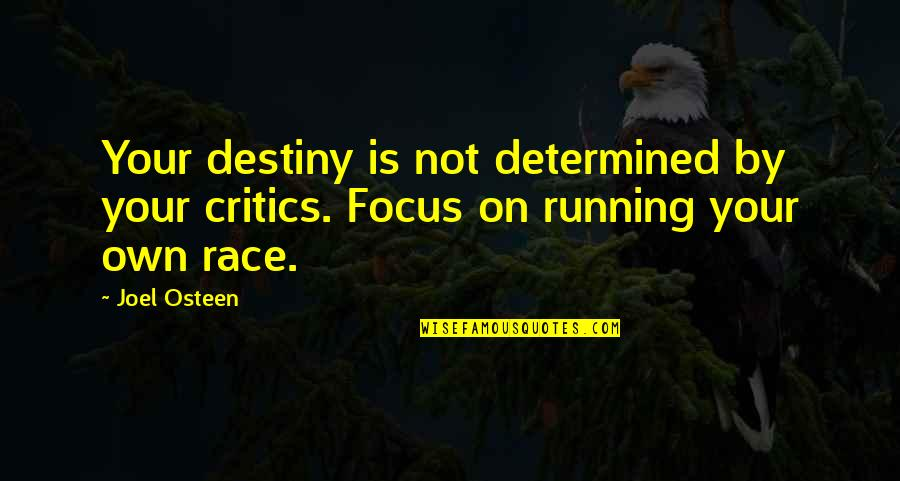 Joel Osteen Quotes By Joel Osteen: Your destiny is not determined by your critics.