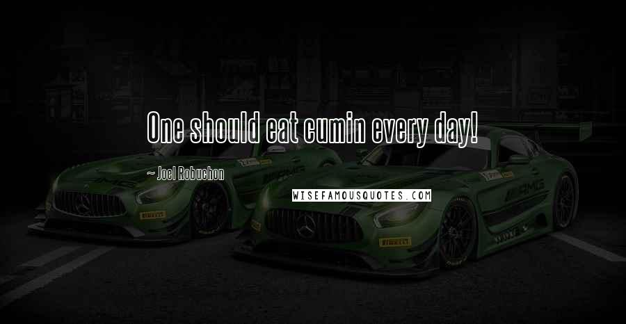 Joel Robuchon quotes: One should eat cumin every day!