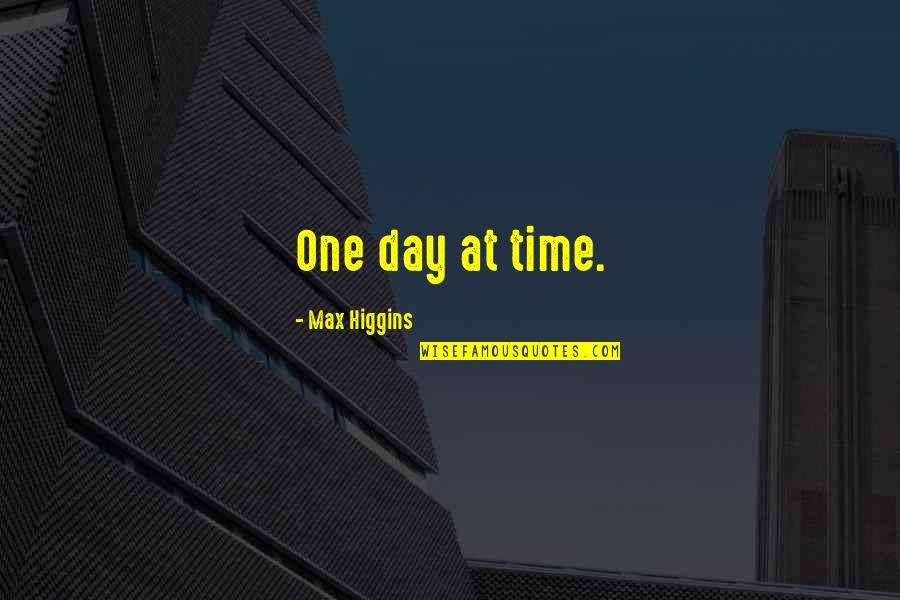 Joey Tribbiani Air Quotes By Max Higgins: One day at time.