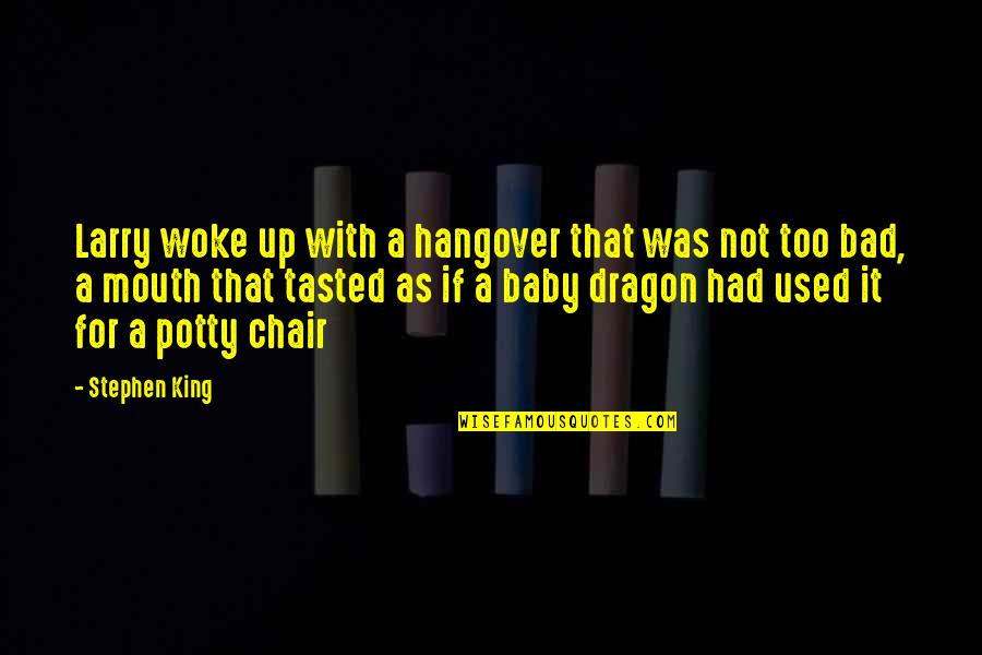 Joey Tribbiani Air Quotes By Stephen King: Larry woke up with a hangover that was