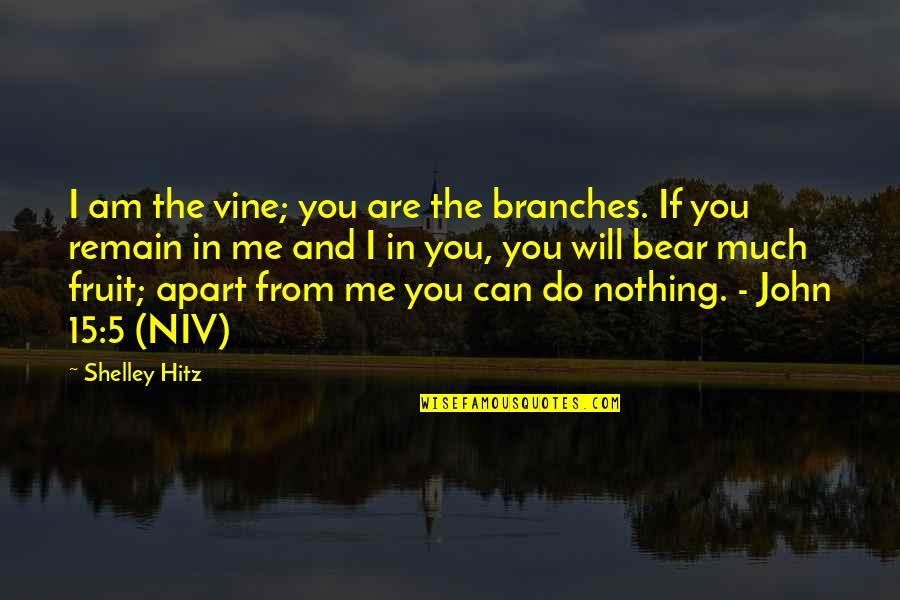 John 15 Quotes By Shelley Hitz: I am the vine; you are the branches.