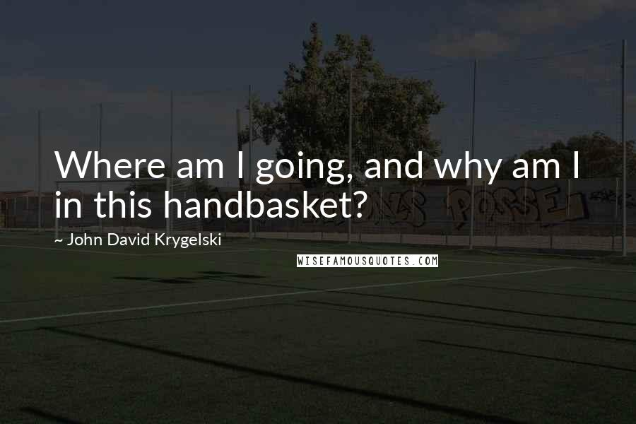 John David Krygelski quotes: Where am I going, and why am I in this handbasket?
