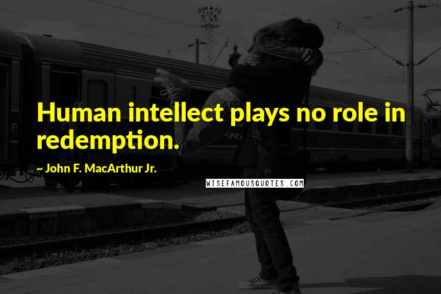John F. MacArthur Jr. quotes: Human intellect plays no role in redemption.