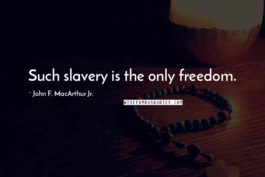 John F. MacArthur Jr. quotes: Such slavery is the only freedom.