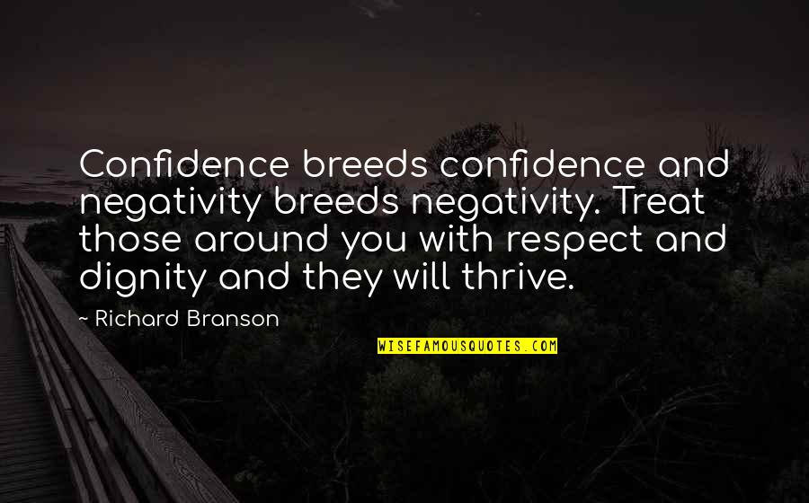 John Gill Climbing Quotes By Richard Branson: Confidence breeds confidence and negativity breeds negativity. Treat