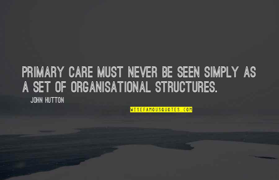 John Hutton Quotes By John Hutton: Primary care must never be seen simply as
