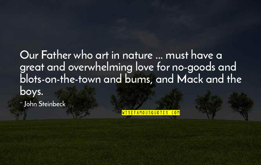 John Mack Quotes By John Steinbeck: Our Father who art in nature ... must