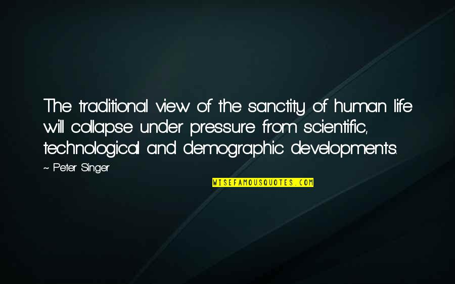 John Marco Allegro Quotes By Peter Singer: The traditional view of the sanctity of human