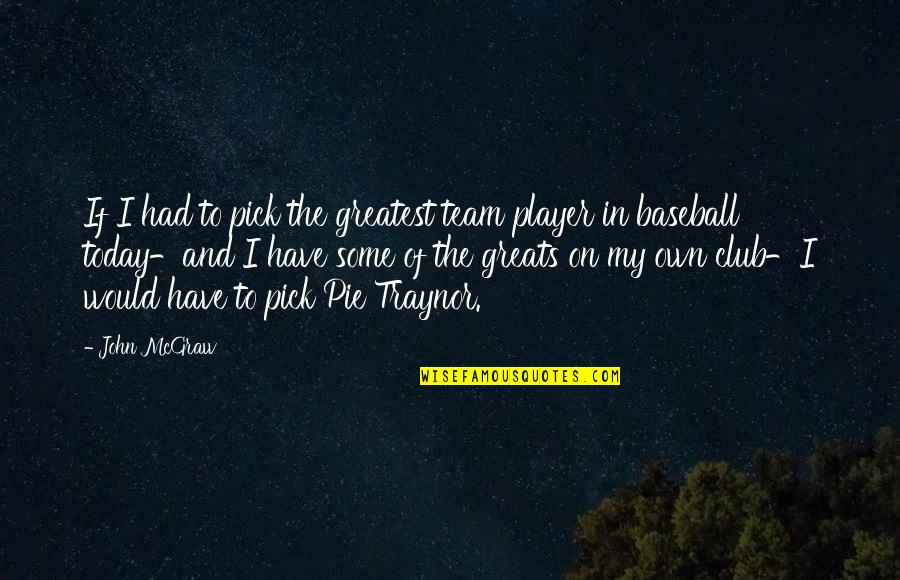 John Mcgraw Quotes By John McGraw: If I had to pick the greatest team