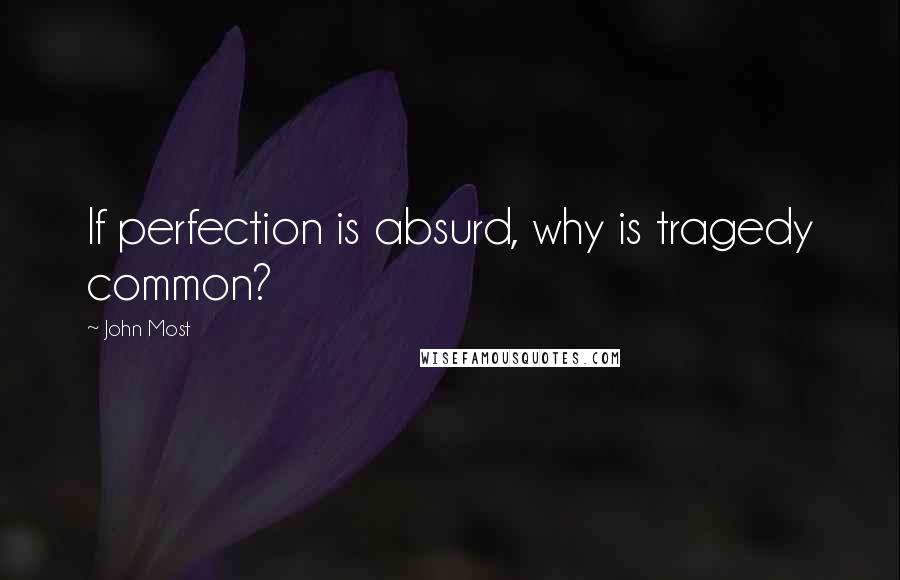 John Most quotes: If perfection is absurd, why is tragedy common?