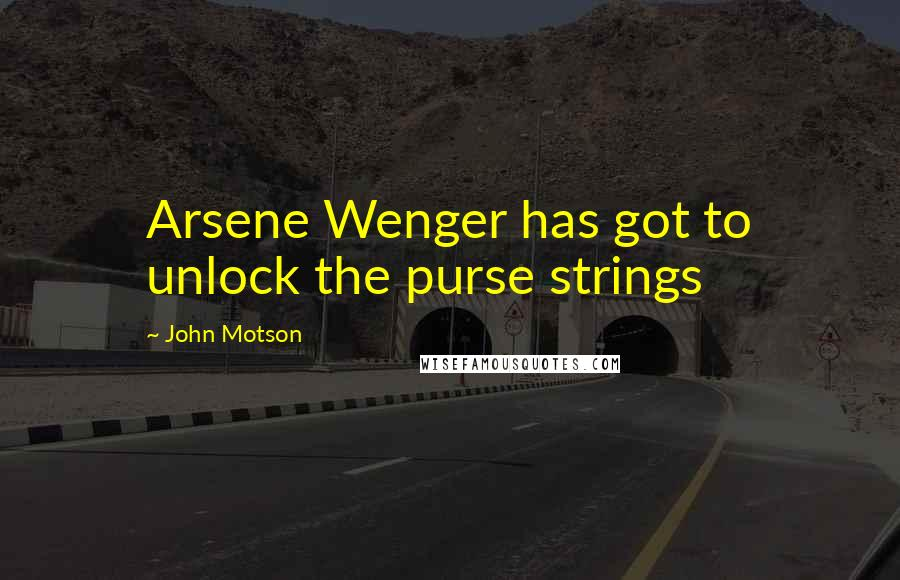 John Motson quotes: Arsene Wenger has got to unlock the purse strings